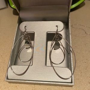Silver toned dangle earrings